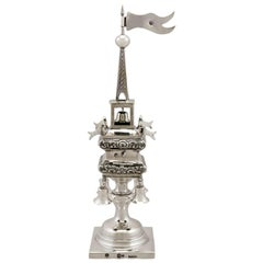 Antique Russian Silver Spice Tower