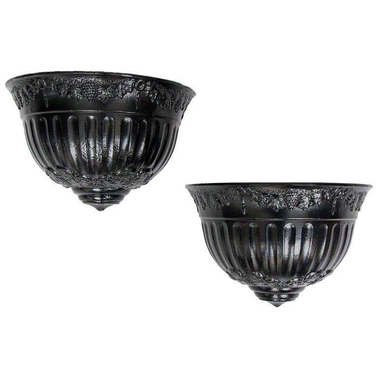 Pair of Regency Period Wall Planters Cast Iron with Good Detail, circa 1820 For Sale