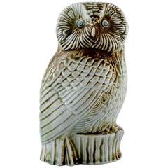 Sven Wejsfelt for Gustavsberg, Owl in Stoneware
