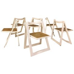"""Set of 6 Jacober & d'Aniello """"Trieste"""" Folding Chairs for Bazzani, 1966, Italy"""