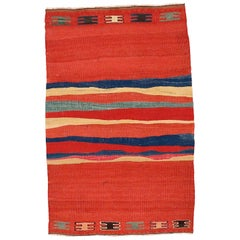 Vintage Abstract Modernist Kilim Rug