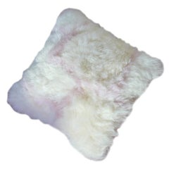 White and Pink Nursery Sheepskin Pillow Cushion, Made in Australia