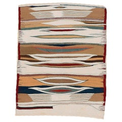 Vintage Abstract Tribal Sofreh Rug