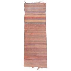Vintage Minimalist Tribal Kilim Runner Rug