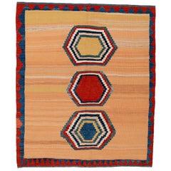 Vintage Abstract Modernist Kilim Rug