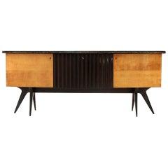 Italian Midcentury Sideboard with Bar, 1950s
