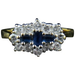 18-Carat Gold, Sapphire and Diamond Ring, Size N