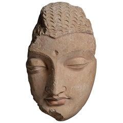 Exceptional Gandharan Stucco Buddha - 4th Century AD