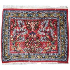 Handmade Vintage Tabriz Style Mat, 1950s, 1C383