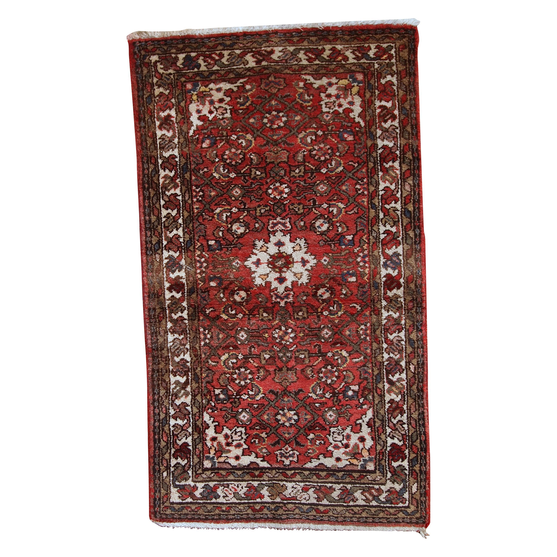 Handmade Vintage Hamadan Style Rug, 1970s, 1C387