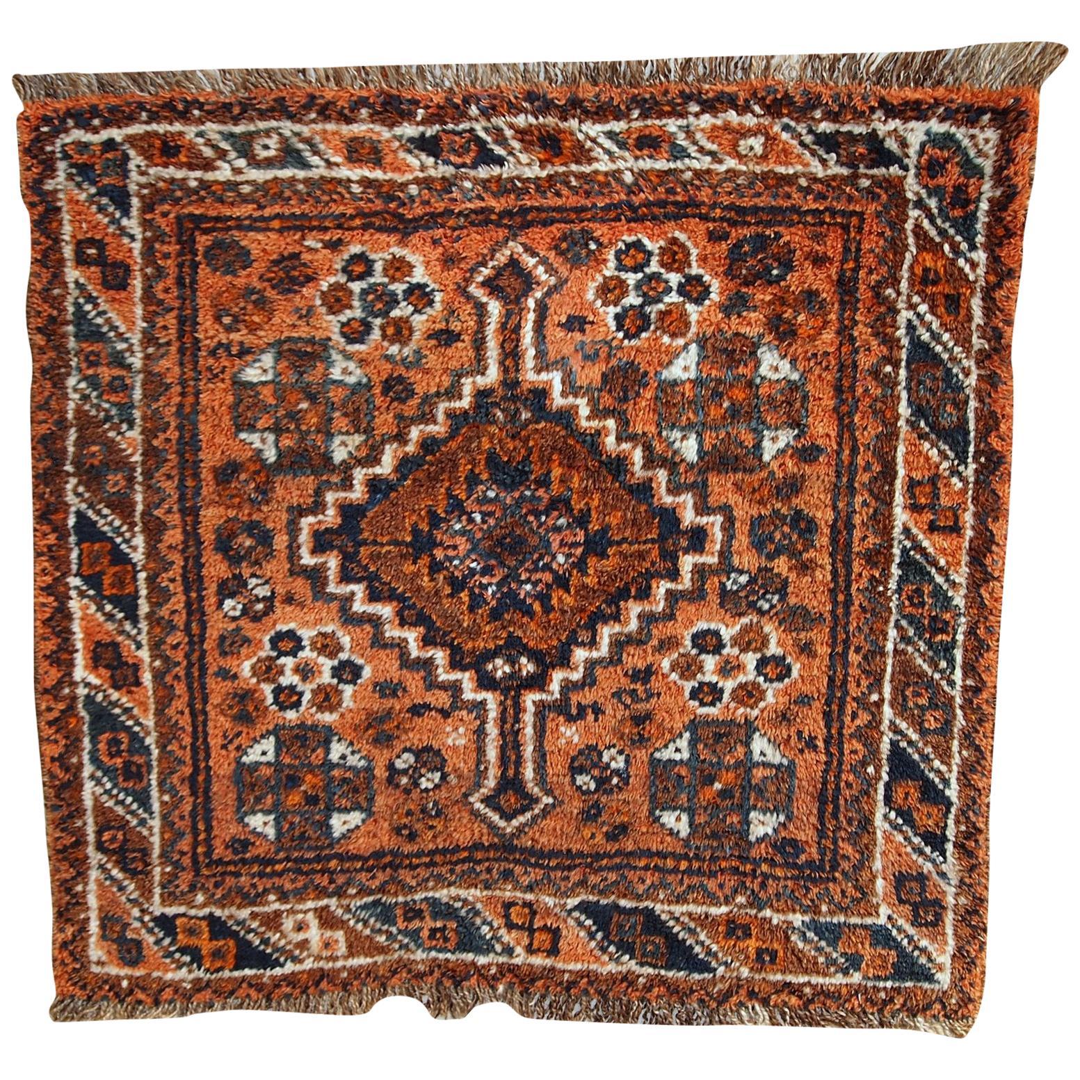 Handmade Antique Collectible Shiraz Style Bagface, 1900s, 1C397