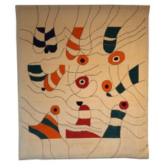 Unique Jan Snoeck Wall-Mounted Rug, Netherlands, 1990s