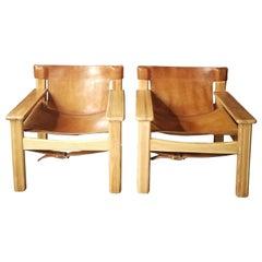 Paar von Natura Safari-Lounge-Sessel von Karin Mobring, 1970er Jahre
