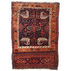 Handmade Antique Kurdish Style Bag Face, 1880s, 1B354