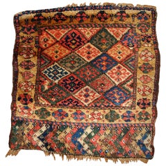 Handmade Antique Kurdish Style Bag Face, 1880, 1B359