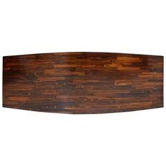 Jorge Zalszupin Modern Rectangular Jacaranda Wood Guanabara Brazilian Tabletop
