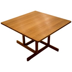 """Kvadratisk"" Coffee Table by Børge Mogensen, 1950s, for Fredericia Stolefabrik"