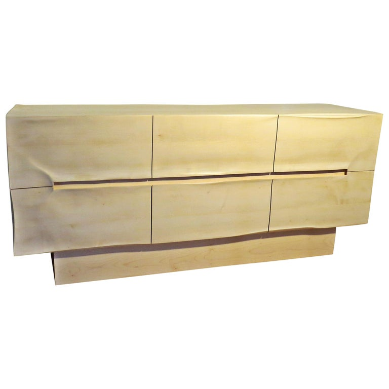 Sideboard Solid Wood in Organic Design, Handcrafted in Germany,  For Sale