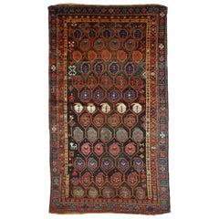 Handmade Antique Kurdish Style Rug, 1880s, 1B418