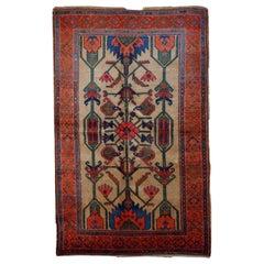 Handmade Antique Kurdish Style Rug, 1900s, 1B422
