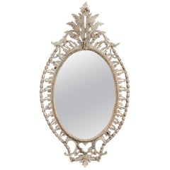 Georgian Chippendale Period Oval Mirror
