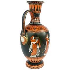 19th Century Samuel Alcock Neoclassical Porcelain Ewer Etruscan