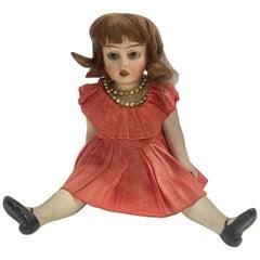 Antique Bisque Ceramic Doll, circa 1920