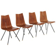 4 'GA' Chairs by Hans Bellmann in 1955, Made by Horgen Glarus in Switzerland