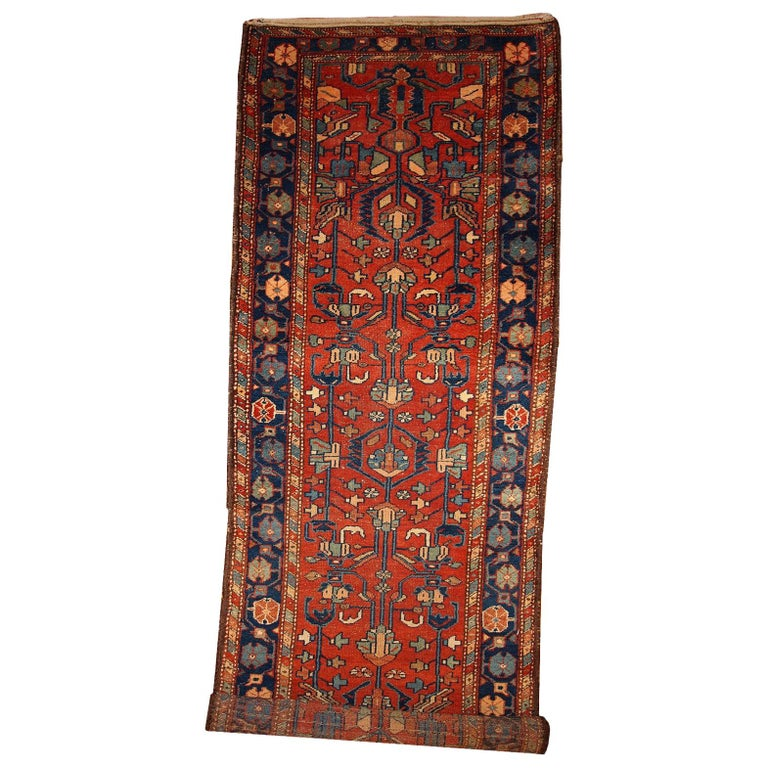 Handmade Antique Lilihan Style Runner, 1920s, 1B429 For Sale