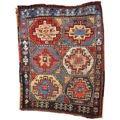 Handmade Antique Kurdish Style Rug, 1870s, 1B441