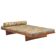 Grete Jalk Reupholstered Daybed in Colorful Pierre Frey Fabric