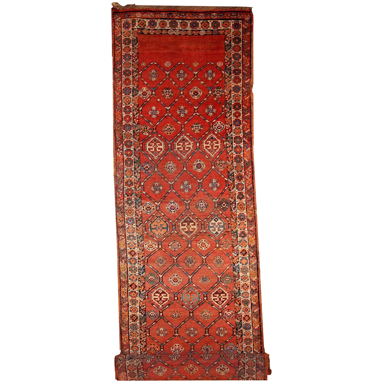 Handmade Antique Kurdish Style Runner, 1900, 1B444