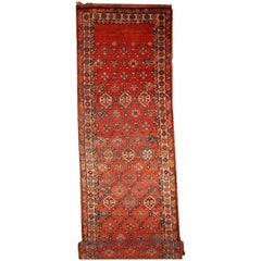 Handmade Antique Kurdish Style Runner, 1900, 1B444
