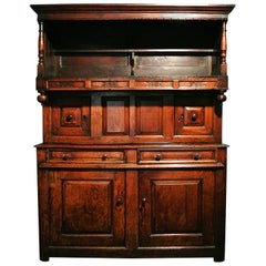 Original and Early Tridarn Cupboard, Initialed and Dated 1734
