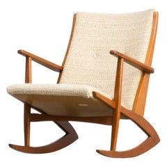 1960s Søren Georg Jensen Model 97 Rocking Chair for Tønder Møbelværk