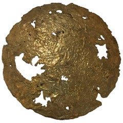 """Moon"" Bronze Wall Art"