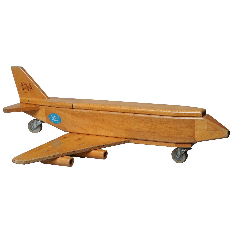 Vintage Wood Cargo Toy Airplane Community Playthings Robertsbridge Sussex