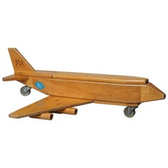 Vintage Wood Cargo Toy Airplane Community Playthings Robertsbridge Sussex