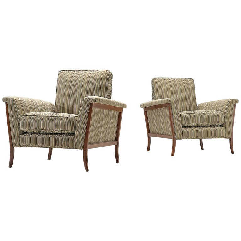 Remarkable Pair Of Brazilian Lounge Chairs In Mahogany Ibusinesslaw Wood Chair Design Ideas Ibusinesslaworg