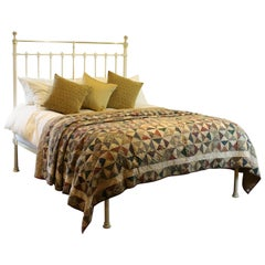 Antique Platform Bed in Cream, MK172