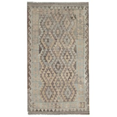 Traditional Kilim Rug Hand-Woven and Hand-Dyed in Afghanistan