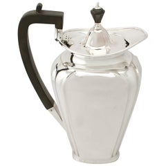 1920s Antique English Sterling Silver Coffee Jug