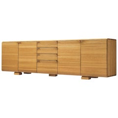 Belgian Sideboard with Folded Handles in Elm