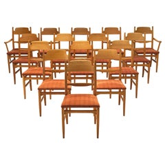 Carl Malmsten Large Set of Dining Chairs