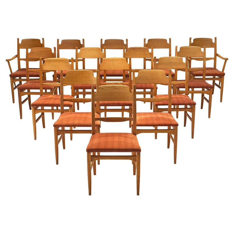 Carl Malmsten Large Set of Dining Chairs For Sale