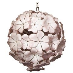 Cenedese Midcentury Rose Murano Glass Chandelier by Cenedese, 1980s