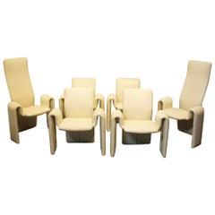 Leather Dining Chairs by Steve Leonard for Brayton International