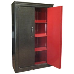 Antique French Steel Safe Cabinet
