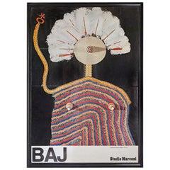 Vintage Exhibition Poster by Enrico Baj