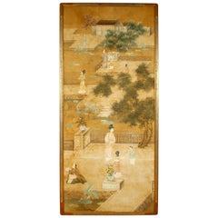 Pair of Antique Asian Framed Panels